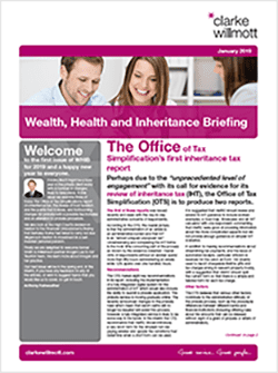 Wealth Health and Inheritance Briefing - January 2019