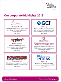 Corporate deal highlights - March 2019