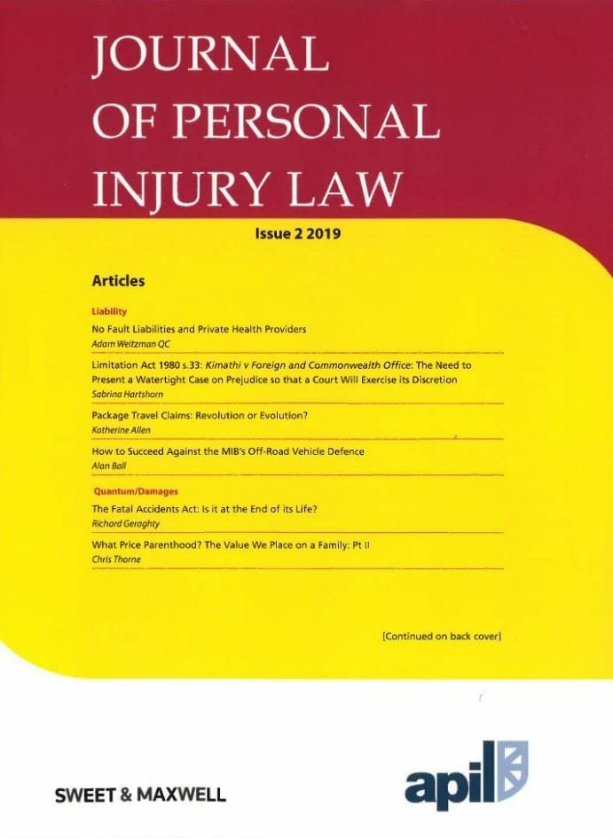 Personal Injury law issue 2019