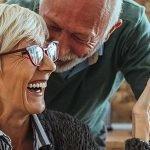 Cheerful older couple