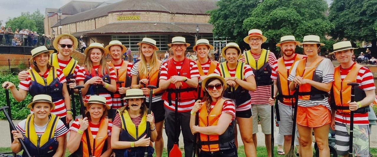 Clarke Willmott's team at the Headway Somerset Dragon Boat Race 2018
